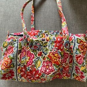 Very Bradley Pink Paisley Small Duffle